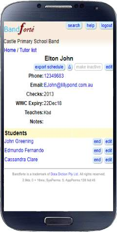 Tutor Details page